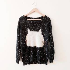 QED London Sweaters - Black & white QED London knitted 🐈 sweater size S